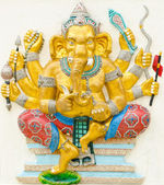 God of success 16 of 32 posture. Indian or Hindu God Ganesha ava — Stock Photo