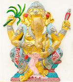 God of success 15 of 32 posture. Indian or Hindu God Ganesha ava — Stock Photo
