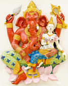 God of success 17 of 32 posture. Indian or Hindu God Ganesha ava — Stock Photo
