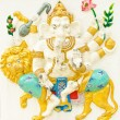 Stock Photo: God of success 14 of 32 posture. Indior Hindu God Ganeshava