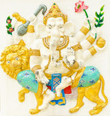 God of success 14 of 32 posture. Indian or Hindu God Ganesha ava — Stock Photo