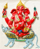 God of success 18 of 32 posture. Indian or Hindu God Ganesha ava — Stock Photo