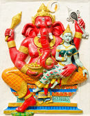 God of success 19 of 32 posture. Indian or Hindu God Ganesha ava — Stock Photo