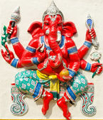 God of success 21 of 32 posture. Indian or Hindu God Ganesha ava — Stock Photo