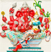 God of success 25 of 32 posture. Indian or Hindu God Ganesha ava — Stock Photo