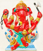 God of success 27 of 32 posture. Indian or Hindu God Ganesha ava — Stock Photo