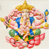 God of success 29 of 32 posture. Indian or Hindu God Ganesha ava — Stock Photo