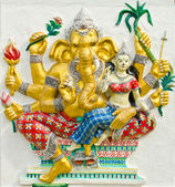 God of success 30 of 32 posture. Indian or Hindu God Ganesha ava — Stock Photo
