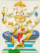 God of success 28 of 32 posture. Indian or Hindu God Ganesha ava — Stock Photo