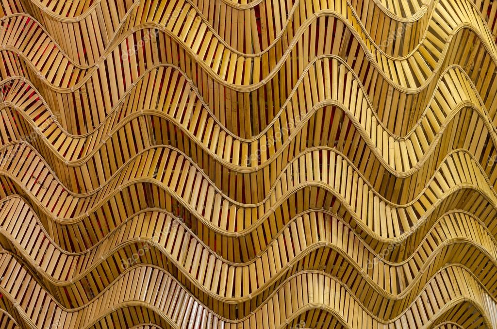 Nature Background Of Brown Handicraft Weave Texture Bamboo