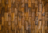 Color pattern of teak wood decorative surface — Stock Photo