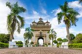 Patuxai monumento en vientiane, laos — Foto de Stock