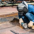 Professional worker in construction industry — Stock Photo