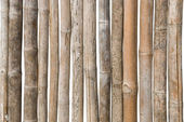 Old bamboo wood fence background — Stock Photo