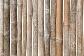 古いタケ木製の柵の背景 — ストック写真