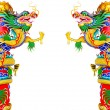 Chinese style dragon statue — Stock Photo #35078875