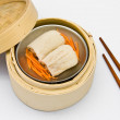 Stock Photo: Chinese steamed dimsum Bamboo pulp in
