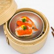 Stock Photo: Chinese steamed dimsum crab