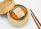 Chinese steamed dimsum Bamboo pulp in — Stock Photo