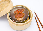 Chinese steamed dimsum sausage — Stock Photo