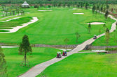 Landscape picture of a golf court — Stockfoto