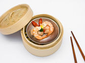 Chinese steamed dimsum shrimp — Stock Photo