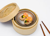 Chinese steamed Dim Sum shrimp balls — Stock Photo