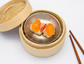 Chinese steamed dimsum egg — Stock Photo