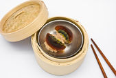 Chinese steamed dimsum preserved egg — Stock Photo
