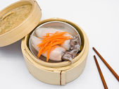 Chinese steamed dimsum squid — Stock Photo