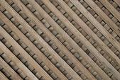 Stary tło drewna panelu w ukośne — Zdjęcie stockowe