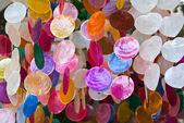 Craft shells hang — Stock Photo