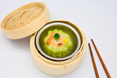 Chinese steamed dimsum Bitter melon — Stock Photo