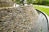 Decorative fountain wall — Stock Photo