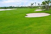Landscape of golf course — Photo