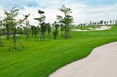 Landskap av golfbana — Stockfoto