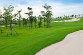 Landscape of golf course — Stock Photo