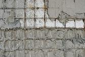 Reinforced concrete walls within the styrofoam — Foto Stock