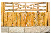 Decorative old wooden fence — Stock Photo