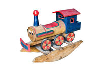 Wooden rocking train — Stock Photo