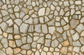 花こう岩の石の壁を飾る — ストック写真