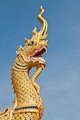 King of naga with blue sky — Stock Photo
