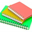 Stock Photo: Stack of ring binder book or notebook