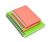 Stack of ring binder book or notebook — Stock Photo