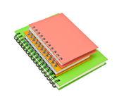 Stack of ring binder book or notebook — Stockfoto