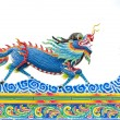 Chinese style blue dragon statue — Stock Photo #35216391