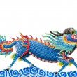 Chinese style blue dragon statue — Stock Photo #35216591