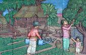 Thaïlandais stuc culture autochtone — Photo