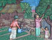Native culture Thai stucco — Stock Photo