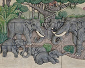 Elephant Thai stucco — Stock Photo